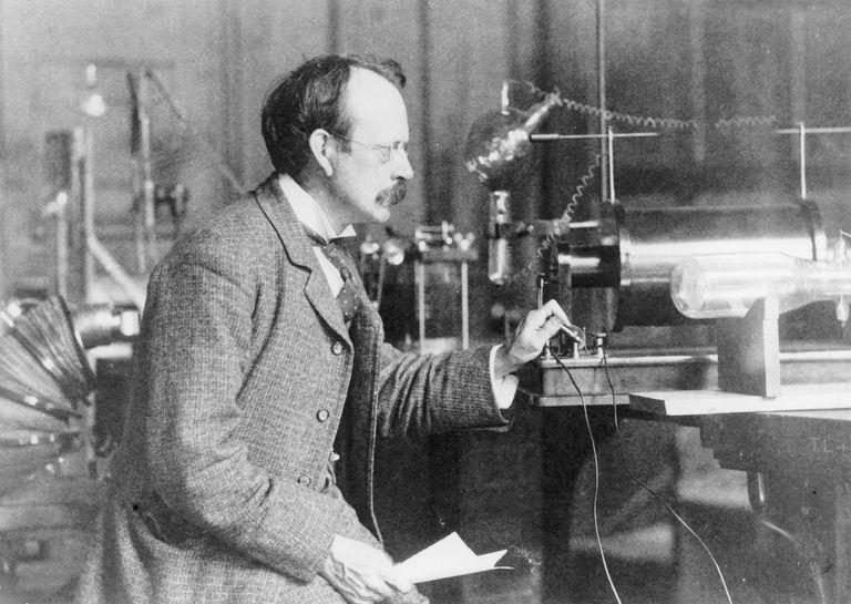 Sir Joseph John Thomson, physicist and inventor, 1900.