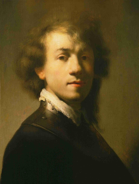 Portrait of Rembrandt with metal gorget