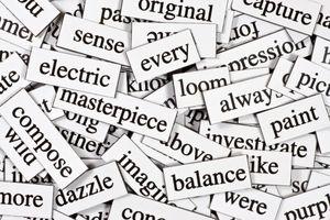 Collection of inspirational jumbled nouns