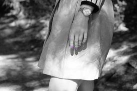 Woman wearing a watch