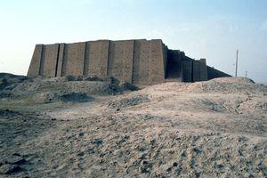 The Great Ziggurat of Ur, Iraq, in 1977