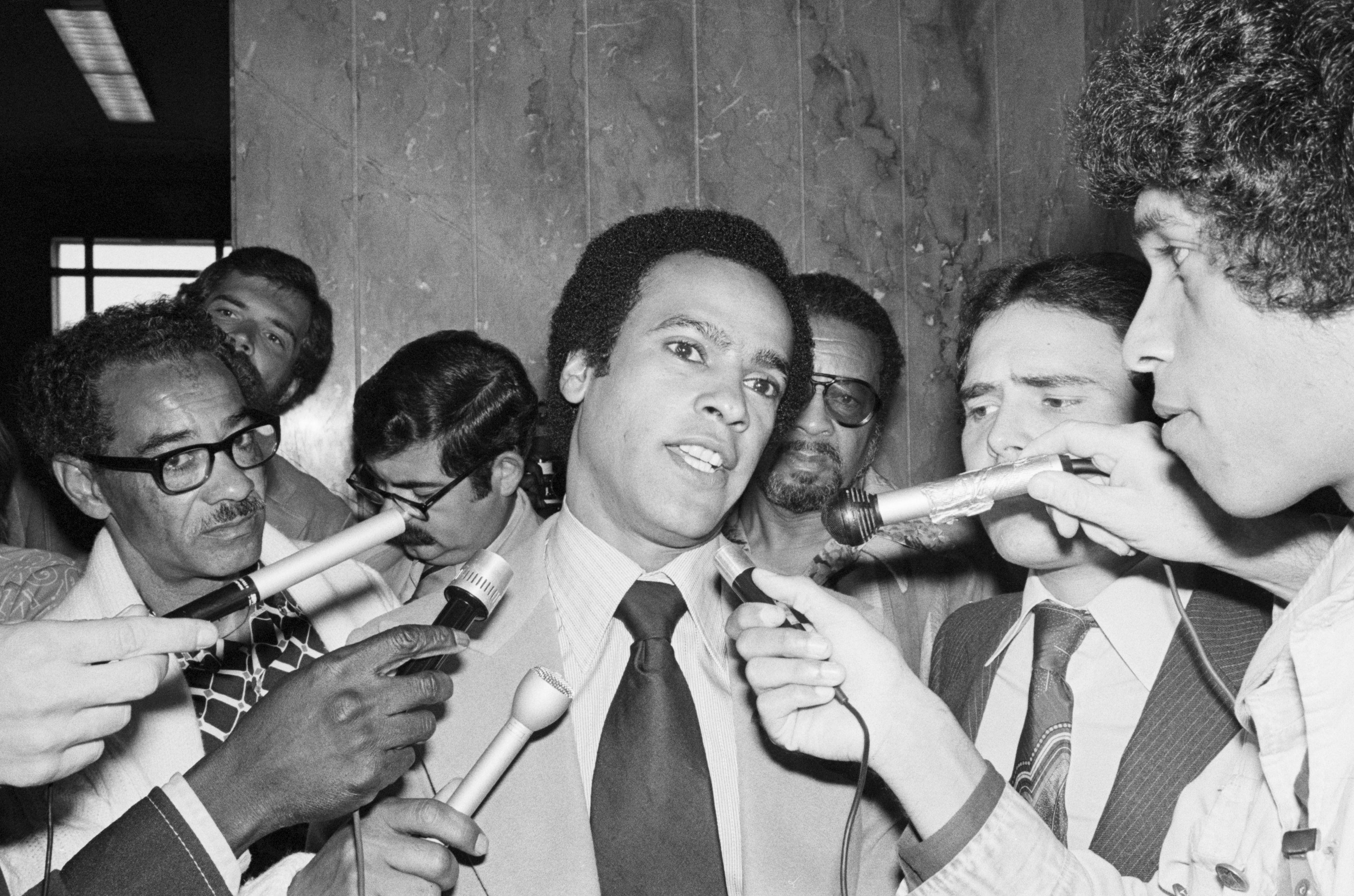 Huey Newton Talks to Reporters