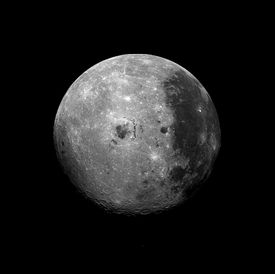 full moon as seen from outer space