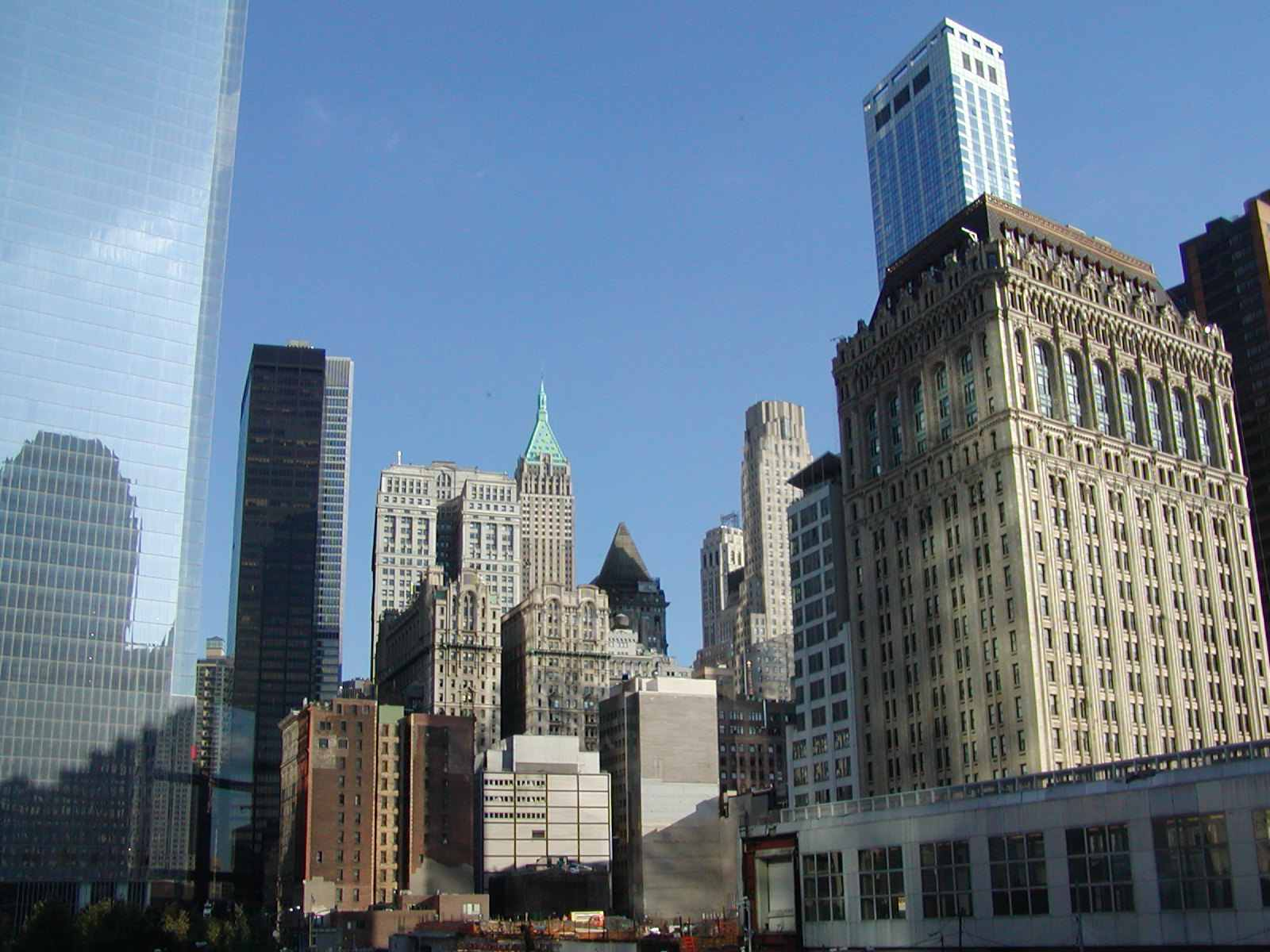 Walking Down Wall Street in Lower Manhattan