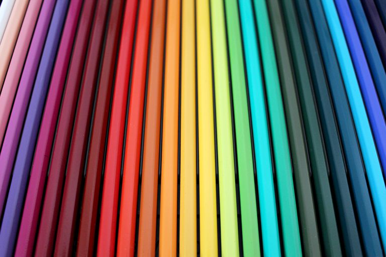 Rows of bars in a rainbow of colors.