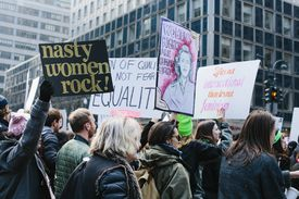 Participants at the Women's March in New York