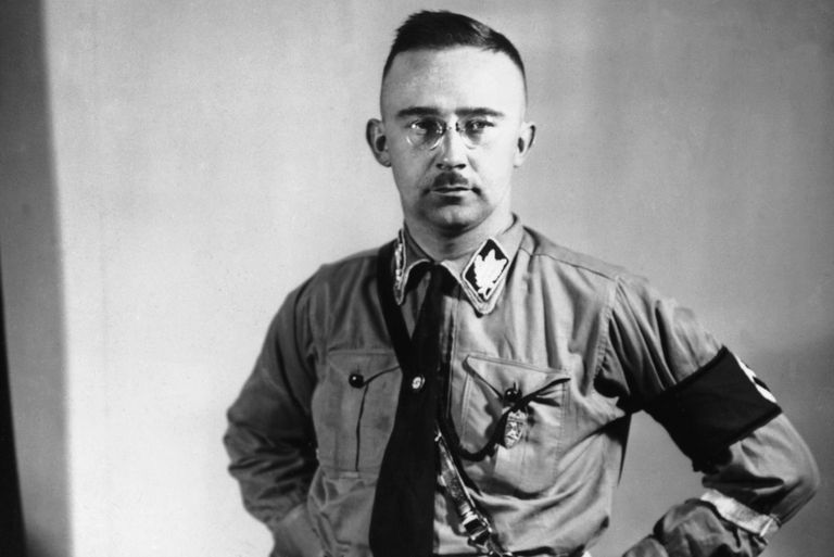 portrait of Nazi Heinrich Himmler