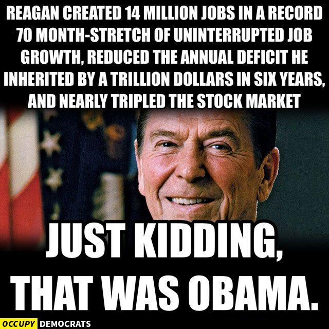 Obama Vs Reagan Record