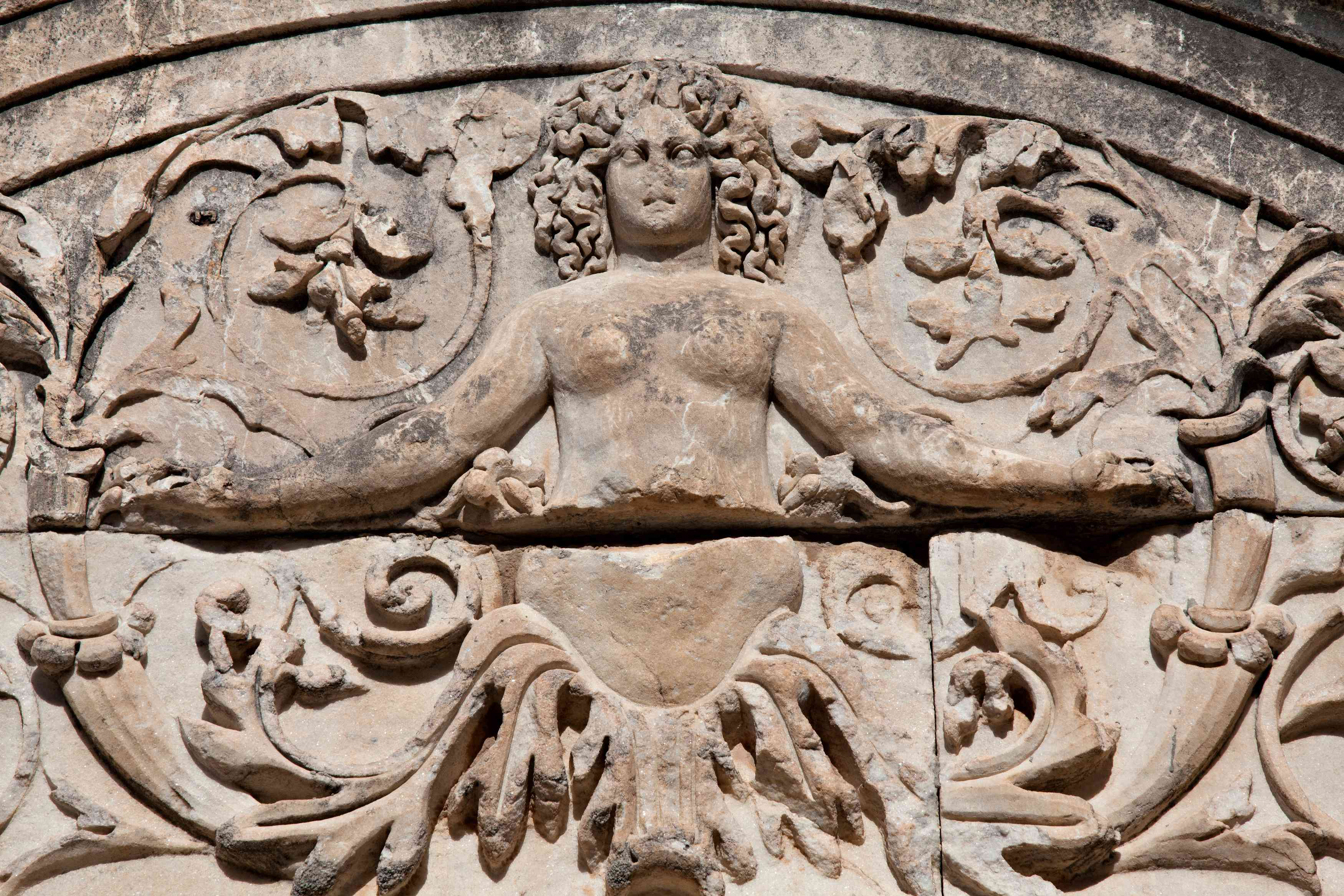 Medusa Relief at Hadrian's Temple, Ephesus, Turkey