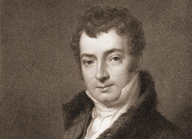Engraved portrait of author Washington Irving