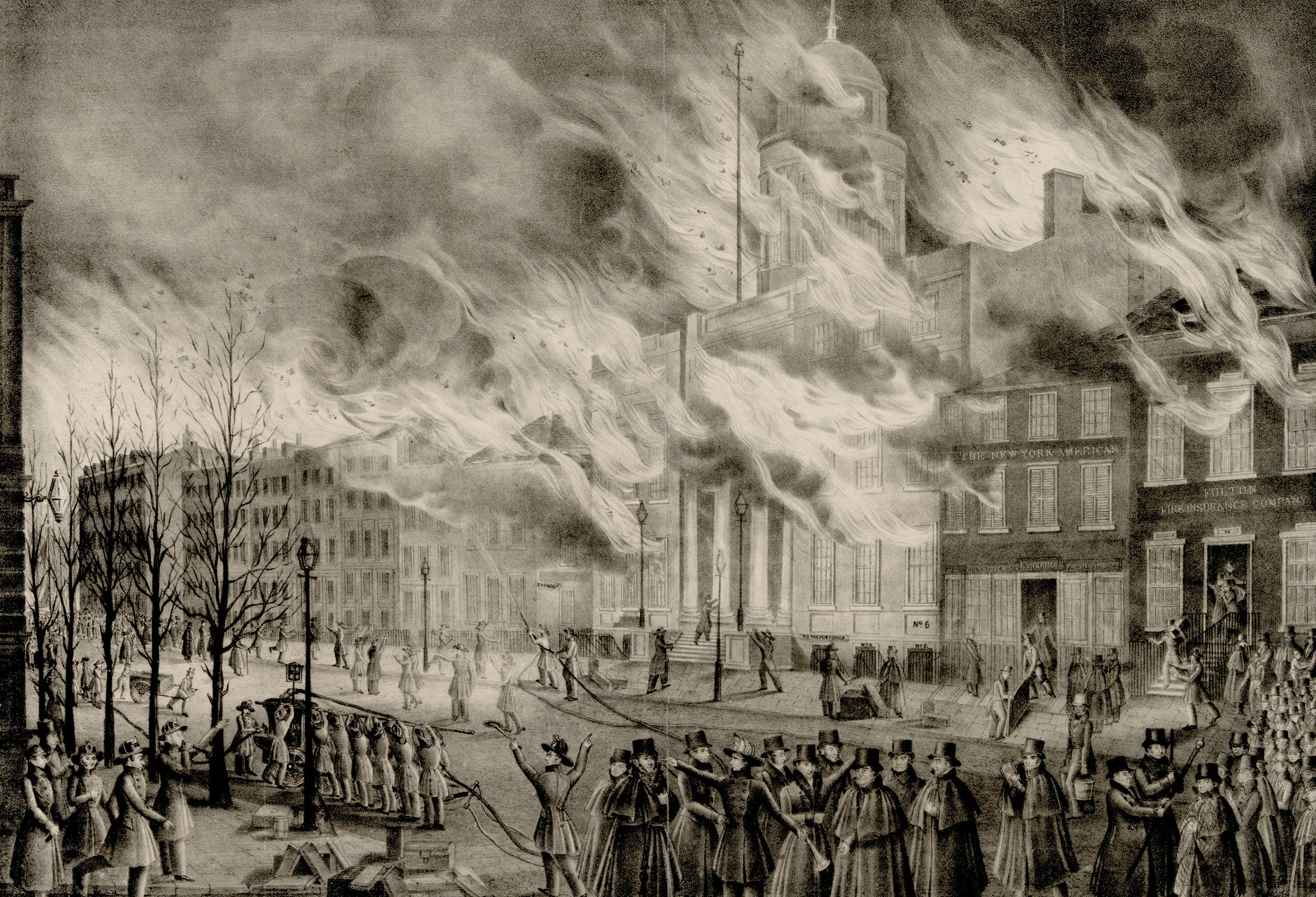 Depiction of the Great New York Fire of 1836
