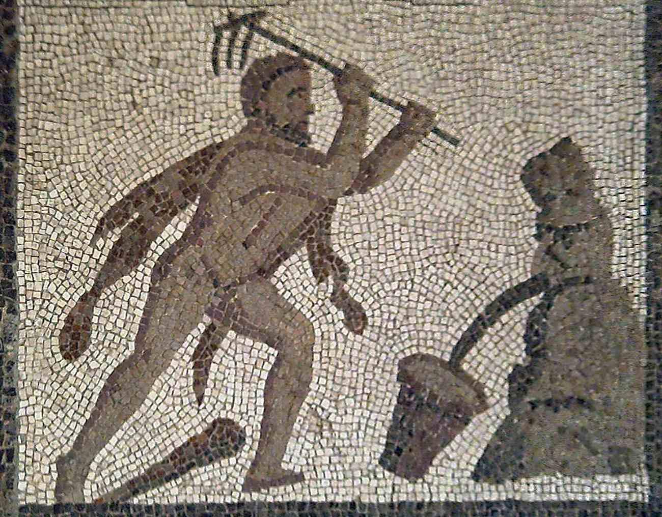 Hercules cleans the Augean stables (Llíria mosaic)
