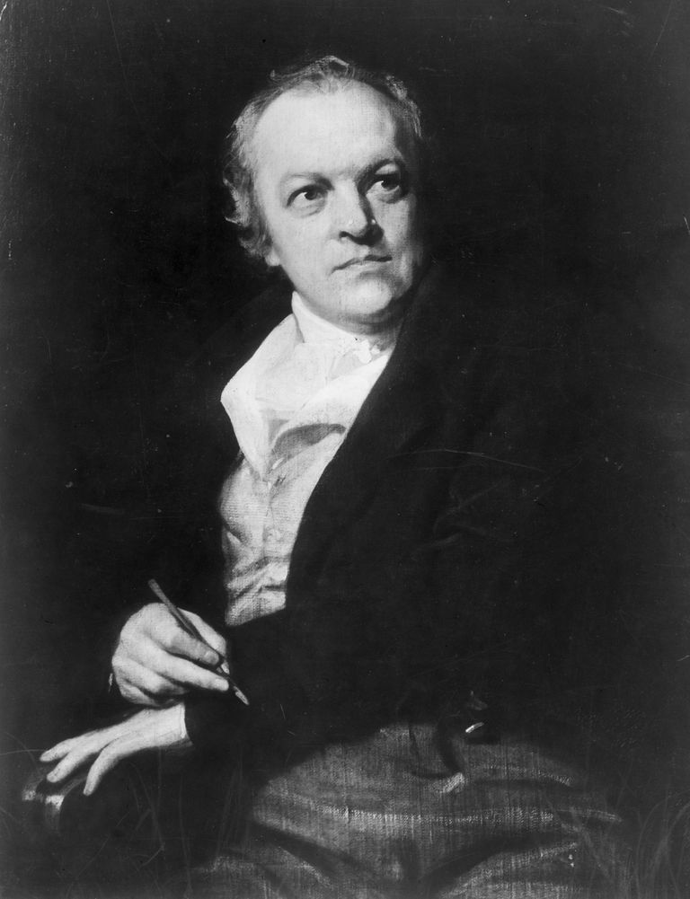 Portrait of William Blake by T. Phillips, c. 1800