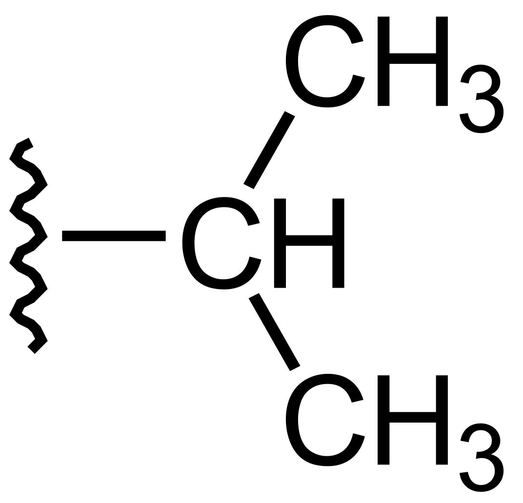 The isopropyl group is an example of an alkyl group.