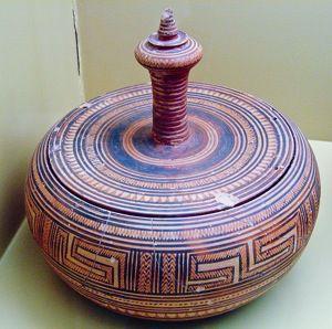 Pyxis With Lid 750 B.C.