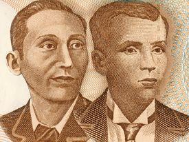 Apolinario Mabini (left) and Andres Bonifacio on a 10 Piso 2008 Banknote
