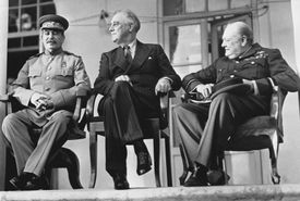 Stalin, FDR, and Churchill at Tehran Conference