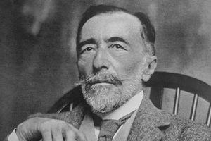 Author Joseph Conrad Posing with Cane