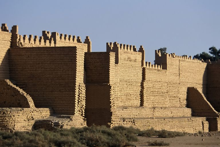 Reconstructed Palace of Nebuchadnezzar II, Babylon, Babil Province, Iraq