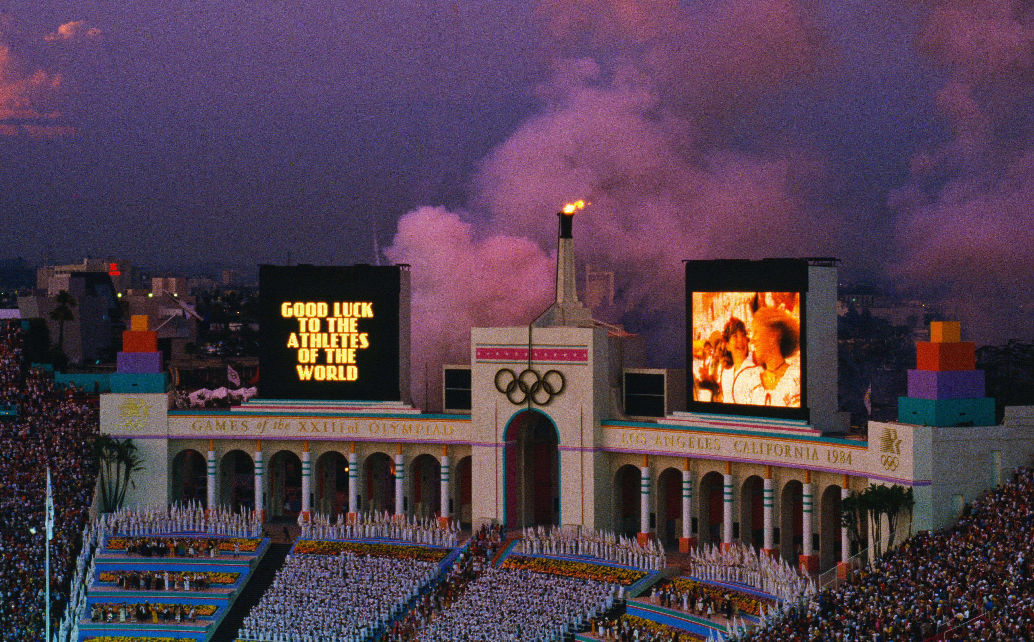 Péristyle, LA Memorial Coliseum, 1984 Jeux Olympiques d'été,
