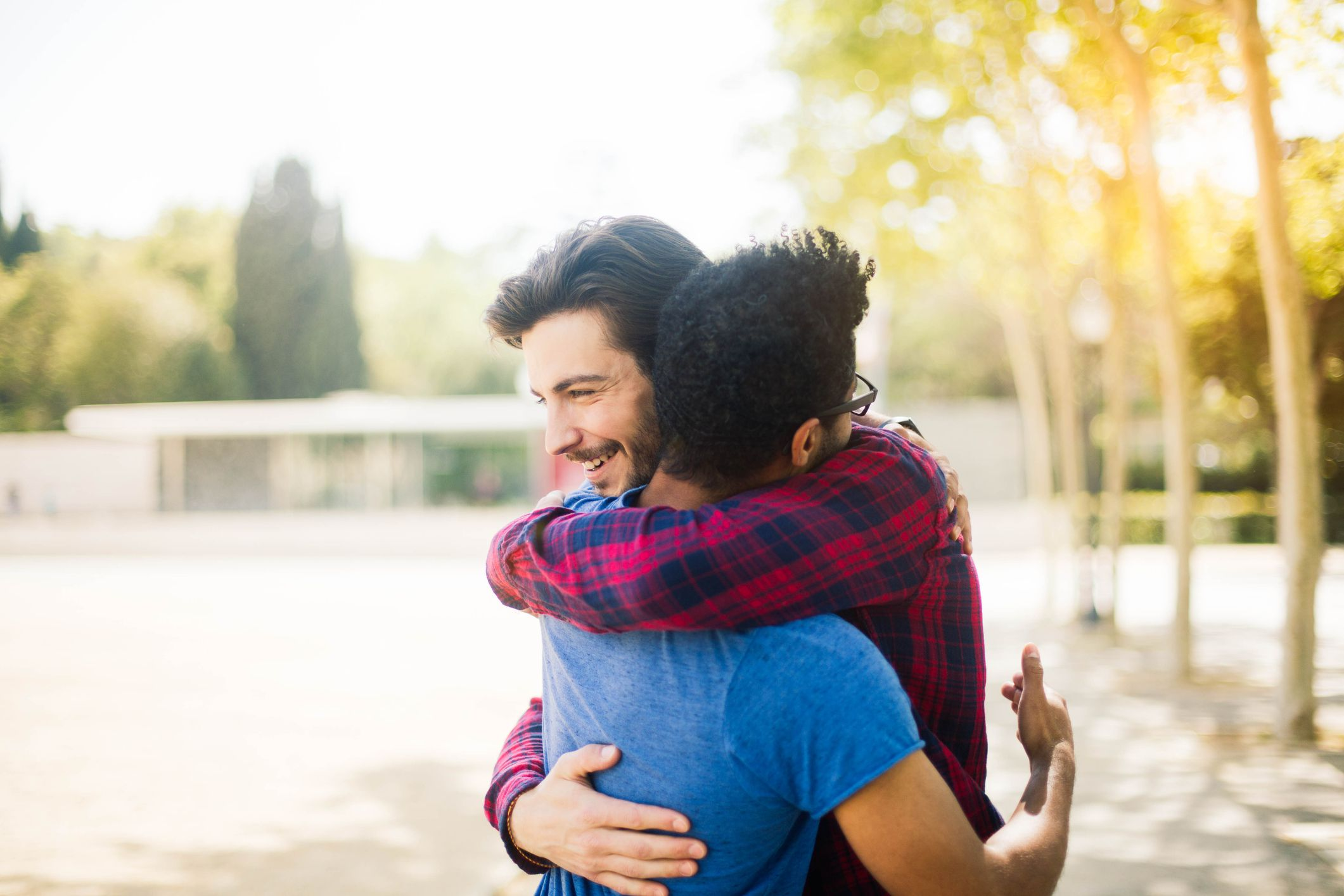 hug friends hugging meet french france streets barcelona getty say email tempura gettyimages