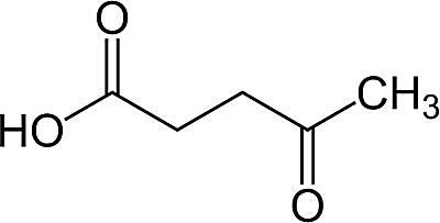 This is the chemical structure of levulinic acid.