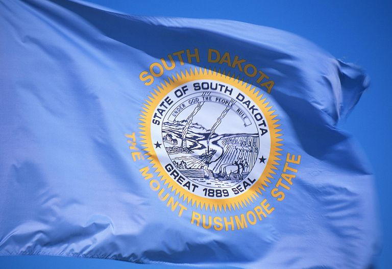 South Dakota flag - Fotosearch - GettyImages-124280323