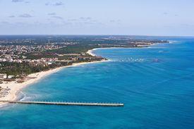 Aerial view of the Yucatan Peninsula