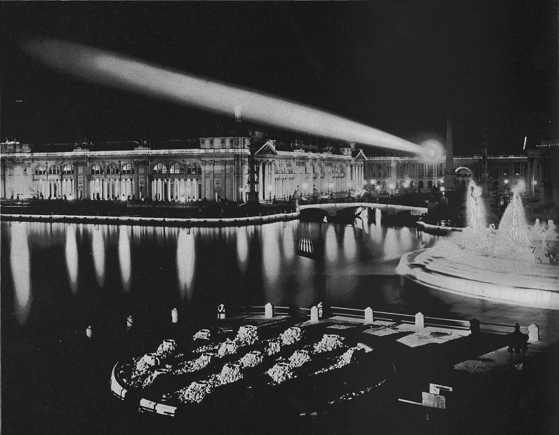 night view of the 1893 World's Fair in Chicago