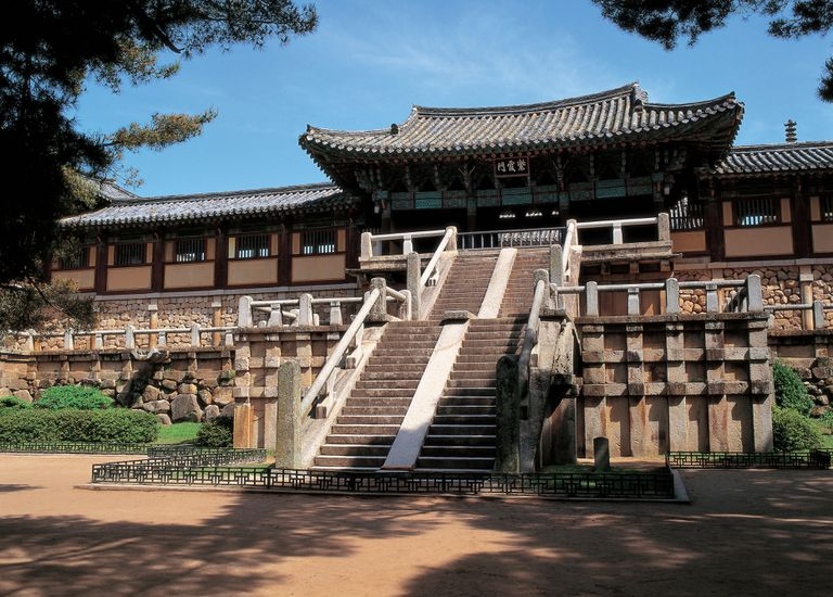 scenic, tradition, landscape, temple, korea, unified silla kingdom, construction