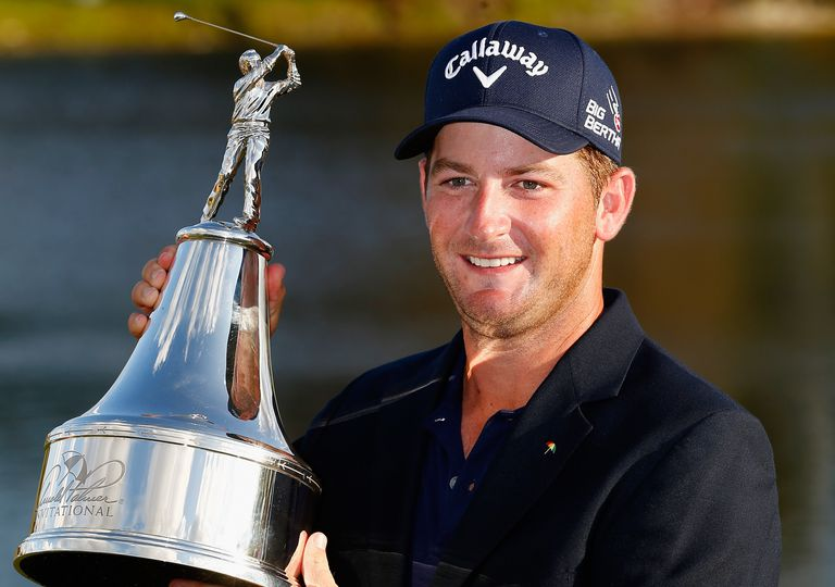 Matt Every of the United States celebrates with the trophy after winning the Arnold Palmer Invitational presented by MasterCard at the Bay Hill Club and Lodge on March 23, 2014 in Orlando, Florida