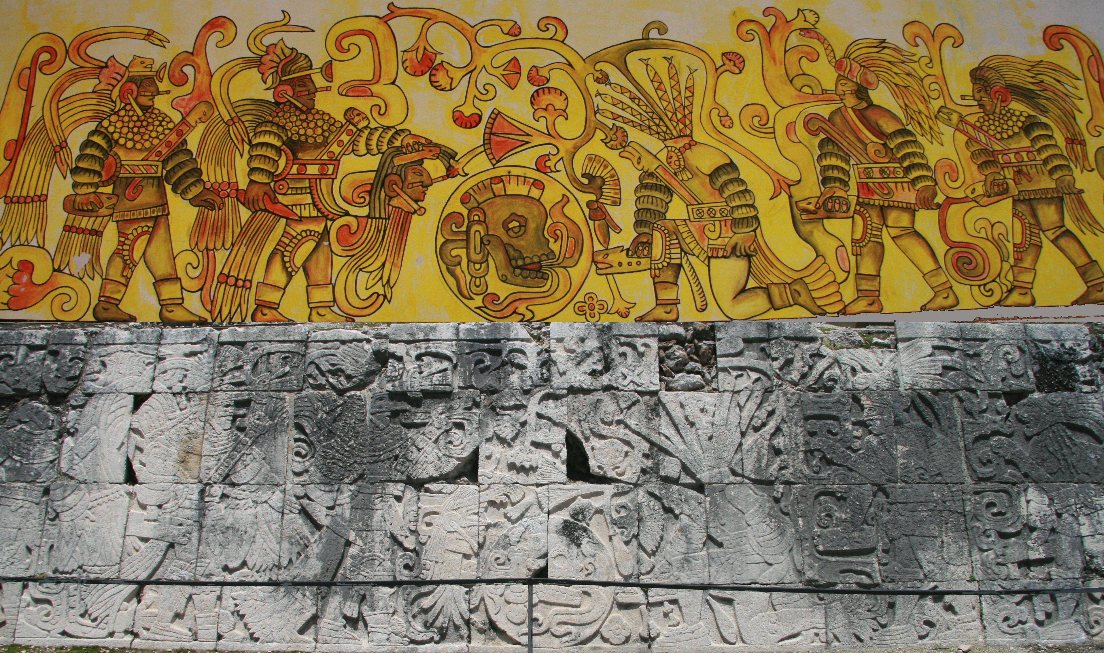 Ancient Civlizations: the Mayans: Politics And Economics  |Maya Sacrifice Stamp