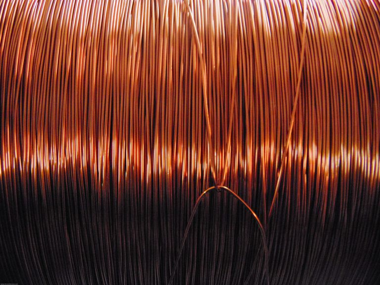 Close-Up Of Wire Coil