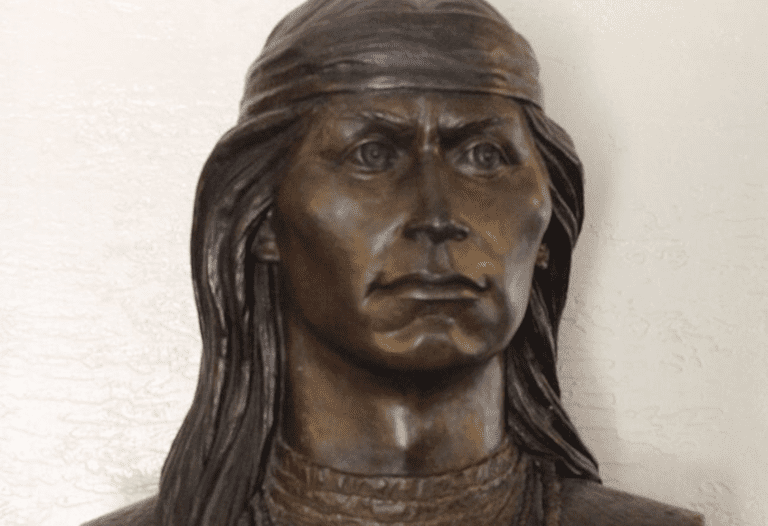 Bronze bust of Cochise