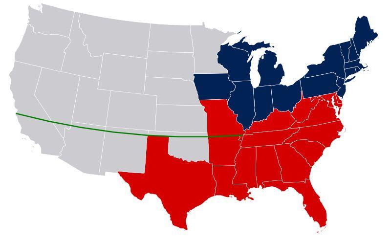 Missouri Compromise Line