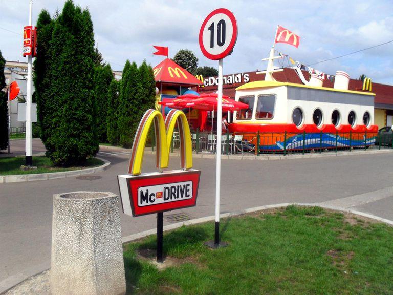 A McDrive McDonald's restaurant