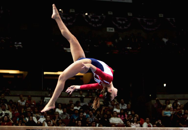 Carly Patterson at the U.S. Gymnastics Olympic Team Trials