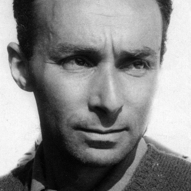 1950 photograph of Primo Levi