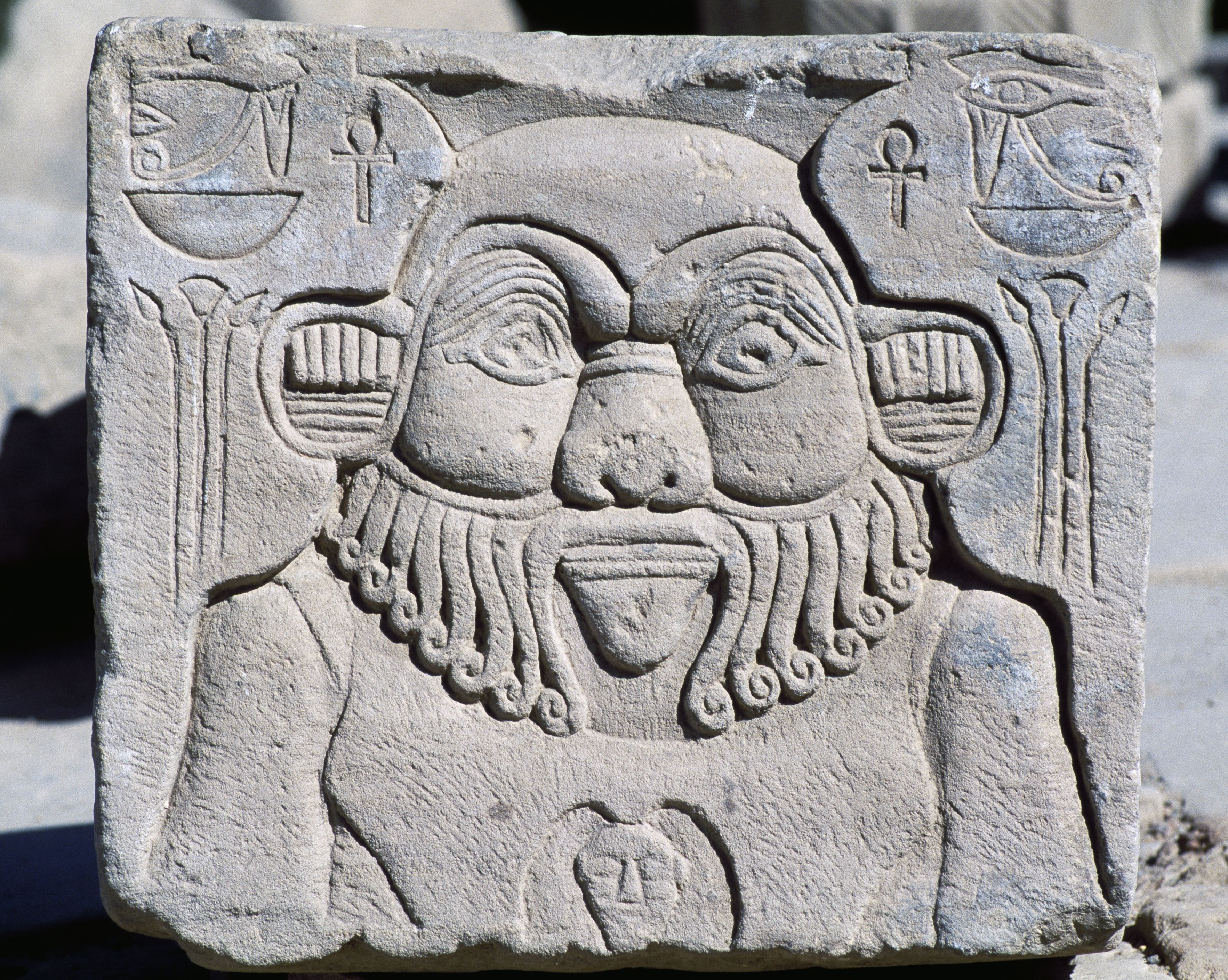 Bas-relief depicting God Bes.