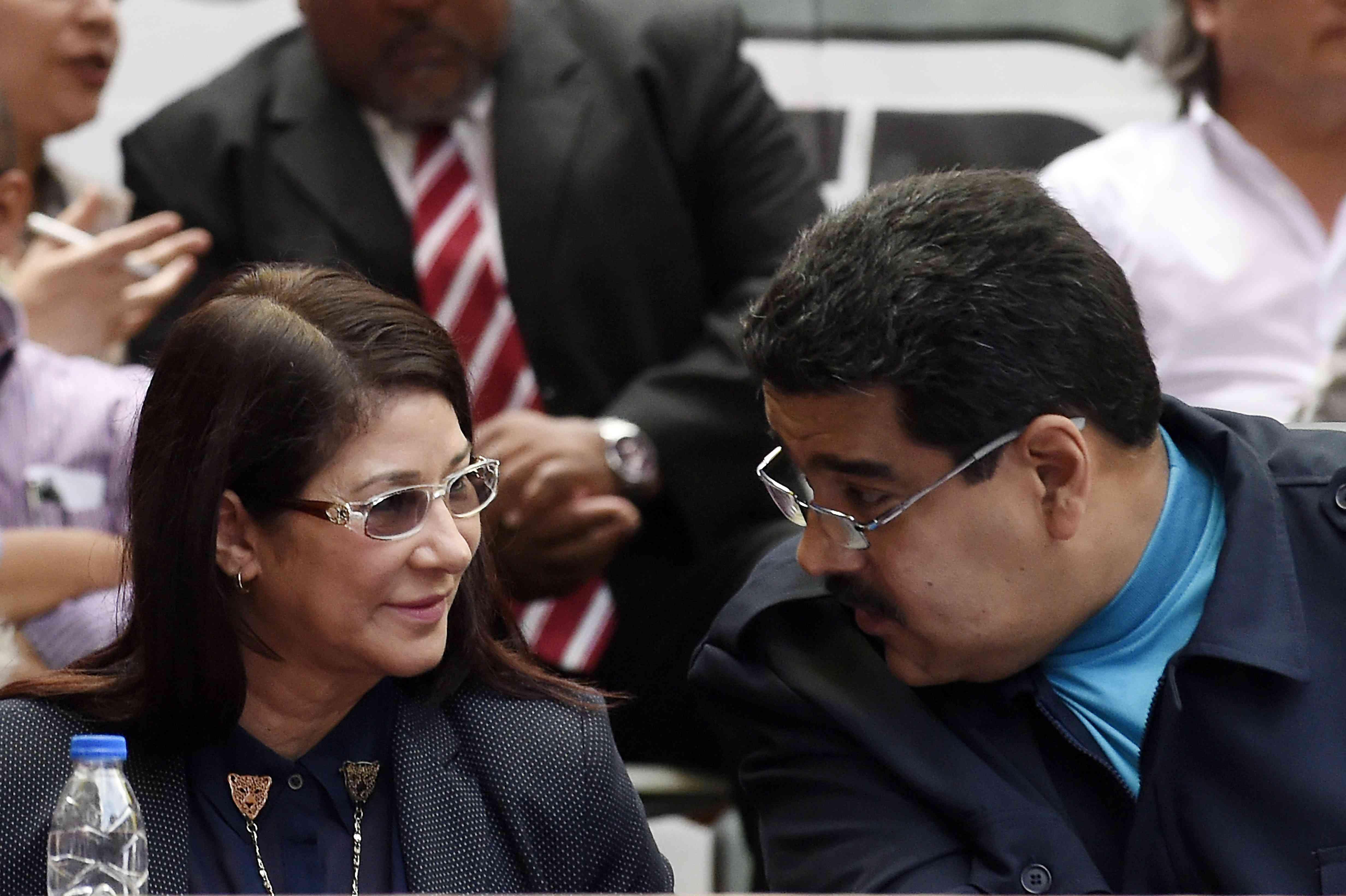 Nicolas Maduro with Cilia Flores