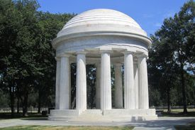 Twelve Marble Doric Columns Create a Small Doric Temple, 1931, to Memorialize the World War I Soldiers from the City of Washington, DC
