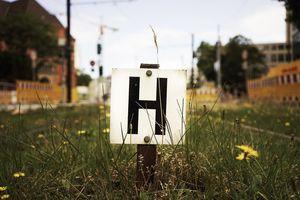Letter H placard