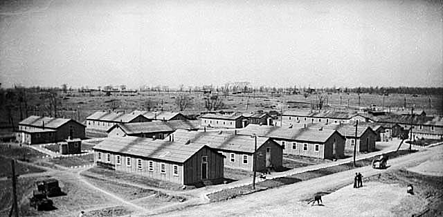 Unemployment Relief Camp Huts at Barriefield, Ontario