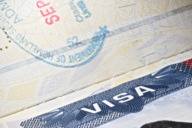 Visa americana y sello de ingreso a Estados Unidos