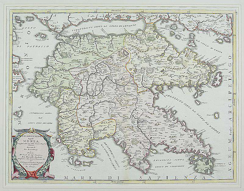 Map of the Peloponnese