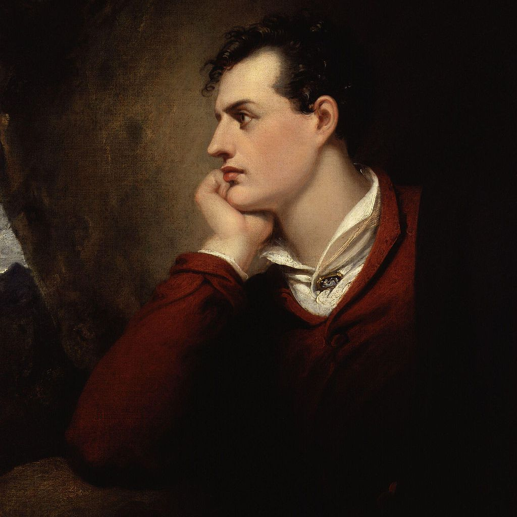 Lord Byron as painted by Richard Westall