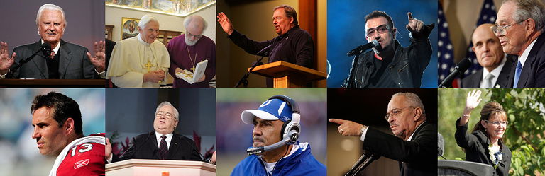 The ten most talked about christians