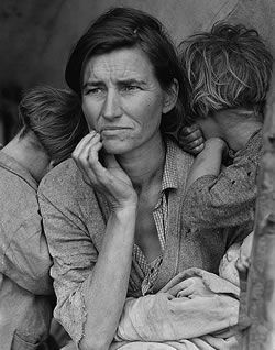 Great Depression - Florence Thompson with children during the Great Depression