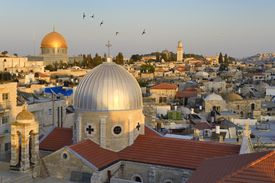 Israel, Jerusalem, holy city, the roofs of the Muslim District