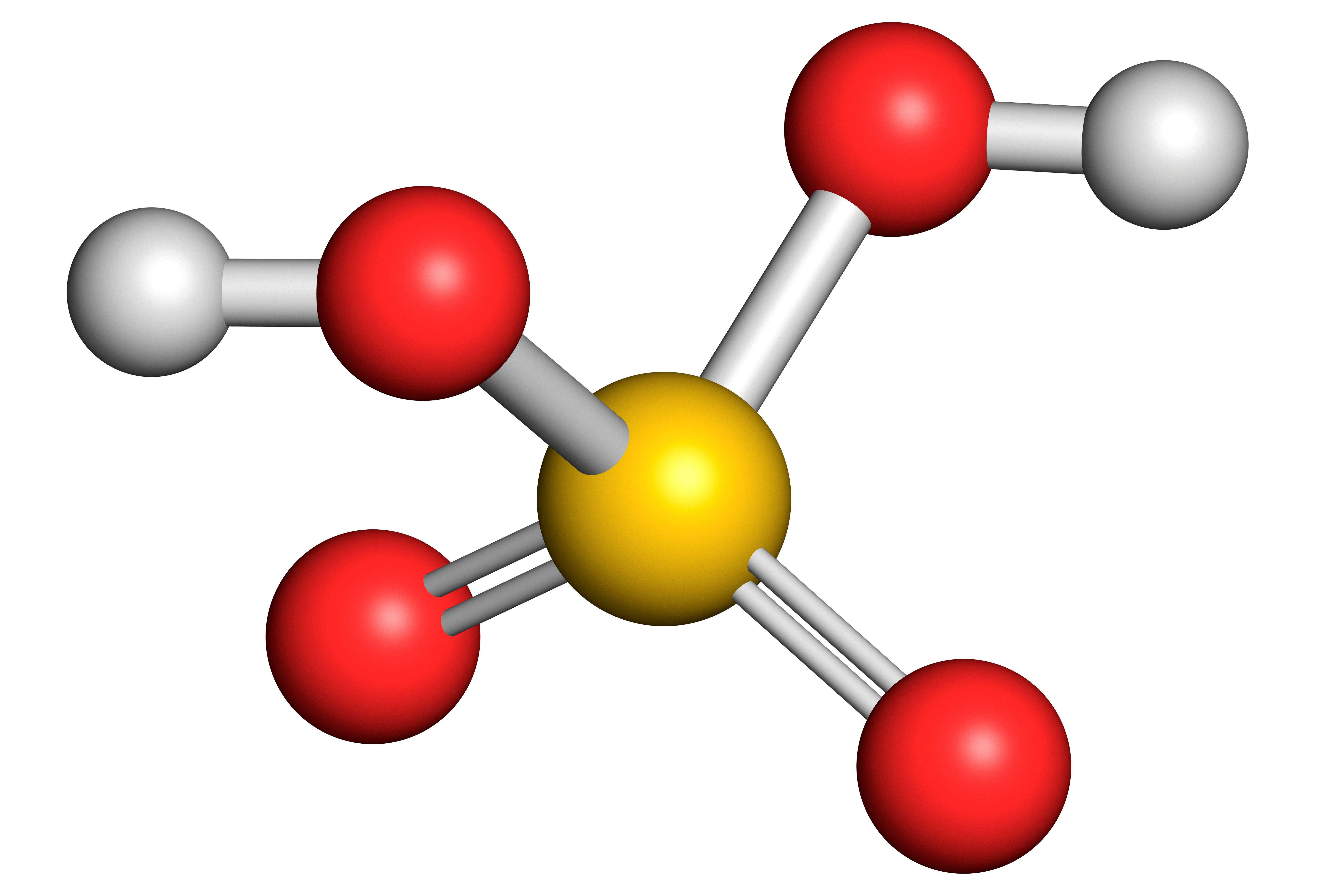 Model of sulfuric acid